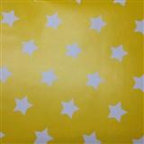 Samolepiace tapety hviezdičky žltý podklad 45 cm x 15 m