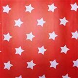 Samolepiace tapety hviezdičky červený podklad 45 cm x 15 m