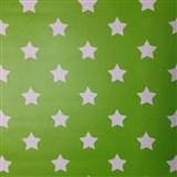 Samolepiace tapety hviezdičky zelený podklad 45 cm x 15 m