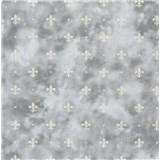 Samolepiace fólie kašmírový vzor sivý na tmavom podklade - 45 cm x 15 m
