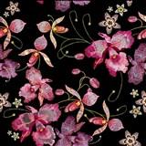 Samolepiace fólie orchidea ružovo-čierno-zlatá- 45 cm x 5 m