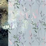 Statické fólie transparentné WILD FLOWERS - 67,5 cm x 15 m