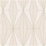 Vliesové tapety na stenu IMPOL Giulia Art-Deco vzor béžový s krémovými kontúrami