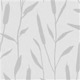Vliesové tapety na stenu IMPOL Giulia trstina strieborná na svetlo sivom podklade