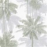 Vliesové tapety na stenu IMPOL Giulia palmy sivo-zelené