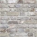 Vliesové tapety na stenu Facade tehla sivá, hnedá