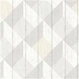 Vliesové tapety na stenu Unplagged 3D drevené dosky biela, sivá, krémová