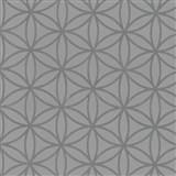 Vliesové tapety na stenu Graphics Alive - geometrické kvety strieborné