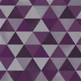 Vliesové tapety na stenu Graphics Alive - geometrický vzor fialovo-sivý