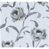 Tapety na stenu Graziosa kvety sivé