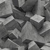 Vliesové tapety na stenu Hexagone 3D kocky čierne