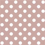 Papierové tapety na stenu ružová s bielymi lesklými bodkami