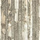 Vliesové tapety na stenu Home drevený obklad s kôrou