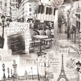 Vliesové tapety na stenu Home Paríž sivá