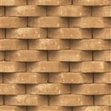 Vliesové tapety na stenu Horizons 3D tehla hnedá