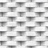 Vliesové tapety na stenu Horizons 3D tehla biela