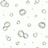 Vliesové tapety na stenu IDEA OF ART 3D bubliny farebné na bielom podklade