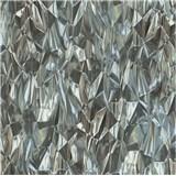 Vliesové tapety na stenu IDEA OF ART 3D sklenené hroty čierno-biele