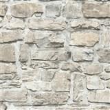 Vliesové tapety na stenu Il Decoro ukladaný kameň hnedo-sivý