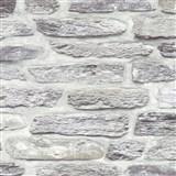Vliesové tapety na stenu Il Decoro kamenná stena svetlo sivá