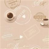 Vinylové tapety na stenu Il Decoro vzor káva na hnedom podklade