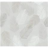 Vliesové tapety na stenu Infinity perie hnedé, biele, sivé