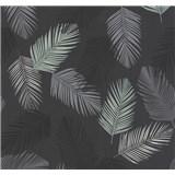 Vliesové tapety na stenu Infinity perie sivé, čierne