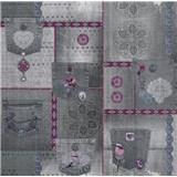 Papierové tapety na stenu It's Me Vintage Jeans svetlo sivé