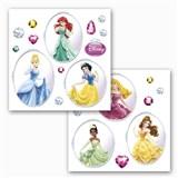 Samolepky na sklo Disney Princess rozmer 31 cm x 31 cm