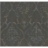 Vliesové tapety na stenu G. M. Kretschmer zámocký vzor tyrkysovo-hnedý