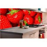 Samolepiace tapety za kuchynskú linku jahody rozmer 180 cm x 60 cm
