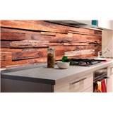 Samolepiace tapety za kuchynskú linku drevená stena rozmer 180 cm x 60 cm