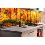 Samolepiace tapety za kuchynskú linku slnečný les rozmer 180 cm x 60 cm