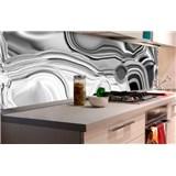 Samolepiace tapety za kuchynskú linku tekuté striebro rozmer 180 cm x 60 cm