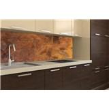 Samolepiace tapety za kuchynskú linku medený kovový plát rozmer 180 cm x 60 cm