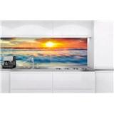 Samolepiace tapety za kuchynskú linku západ slnka na pobrežiu rozmer 180 cm x 60 cm