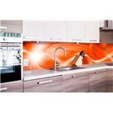 Samolepiace tapety za kuchynskú linku abstrakt oranžový rozmer 260 cm x 60 cm