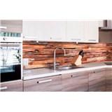 Samolepiace tapety za kuchynskú linku drevená stena rozmer 260 cm x 60 cm