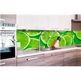 Samolepiace tapety za kuchynskú linku limetky rozmer 260 cm x 60 cm