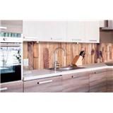 Samolepiace tapety za kuchynskú linku drevené dosky rozmer 260 cm x 60 cm