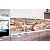 Samolepiace tapety za kuchynskú linku kamenná stena rozmer 260 cm x 60 cm