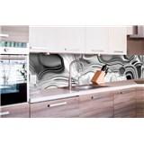 Samolepiace tapety za kuchynskú linku tekuté striebro rozmer 260 cm x 60 cm