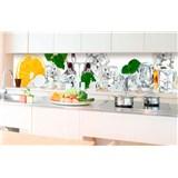 Samolepiace tapety za kuchynskú linku citrón a ľad rozmer 350 cm x 60 cm