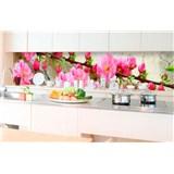 Samolepiace tapety za kuchynskú linku sakura rozmer 350 cm x 60 cm