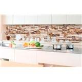 Samolepiace tapety za kuchynskú linku kamenná stena rozmer 350 cm x 60 cm