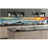 Samolepiace tapety za kuchynskú linku západ slnka na pobrežiu rozmer 350 cm x 60 cm