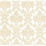 Luxusné vliesové tapety na stenu LACANTARA zámocký vzor zlatý na bielom podklade