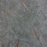 Tapety na stenu La Veneziana 3 omietkovina sivo-modrá s bronzovým detailom