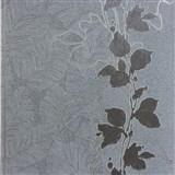 Tapety na stenu La Veneziana 3 stonky listov na hnedom podklade