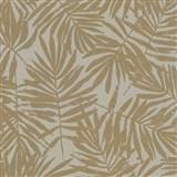 Vliesové tapety na stenu La Veneziana IV papradie zlaté na sivom podklade